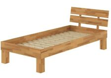 Buchebett massiv Einzelbett 100x200 Bettgestell Holzbett mit Rollrost 60.86-10