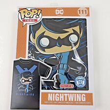 Nightwing Shirt 2XL 2X Unisex Funko Pop Tees DC  Black Blue Limited Edition New