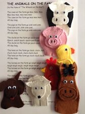 Finger Puppets Handmade 7 Farm Animals Educational Songs & Rhymes