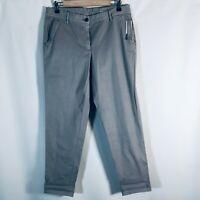 Talbots Girlfriend Chino Khaki Ankle Pants Size 6 Gray NEW