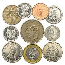 10 COINS FROM JAMAICA OLD COLLECTIBLE JAMAICAN COINS CARIBBEAN ISLAND DOLLAR