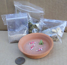 1:12 Do It Yourself Pond Kit With Fish Dolls House Miniature Garden Accessory A