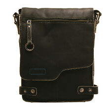Ashwood - Antique Black A4 Cow Vintage Leather Camden Messenger Bag