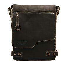 Ashwood - Antique Black A4 Cow Vintage Leather Camden Messenger Bag
