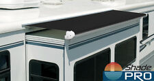 "Trim-to-Fit RV Slideout Room Awning Fabric slideout topper awning (100"" black)"