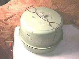 Antique Green Metal Cake & Pie Keeper Carrier