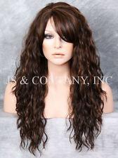 Brown Blonde/Auburn mix HEAT SAFE Spanish Wavy Light Weight Wig Layers HDF 4/27