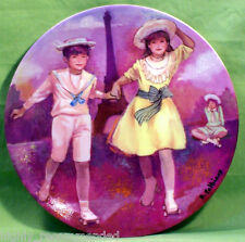 'Patinage au Trocadero' Les Enfants de la Fin du Siecle - 1985 Collector Plate