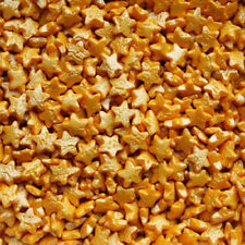 Gold Star Confetti Natural Cake Decorations Edible Toppers Soy Nuts Gluten Free