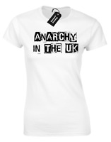 ANARCHY IN THE UK LADIES T-SHIRT BANKSY SEX MUSIC ART PISTOLS GRAFFITI (COL)