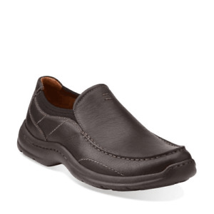 NEW! Men's Clarks Brown Comfort Loafers size 17 M