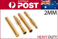 2mm Bullet Connectors 5 pairs sets 2.0mm Heavy Duty Banana Plug 10pcs RC AU POST