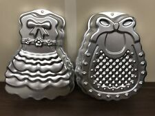 2 Cake Tins Pan Novelty Baking Jelly Mould