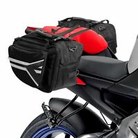 double sided motorcycle saddle bags luggage panniers travel kit motor cycle bike