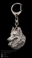 Berger belge, porte-clés couvert d'argent, de qualité supérieure Art Dog FR
