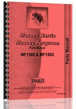 Massey Ferguson 1500 1800 Tractor Chassis Only Parts Manual Mh P Mf1500