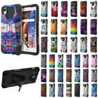 For LG Tribute HD/ LS676 X Style/ X Skin Hybrid Hard Rubber Silicone Case Cover