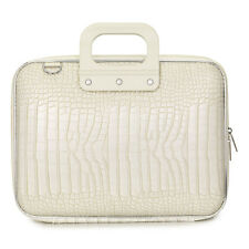 "Bombata - White Medio Cocco 13"" Laptop Case/Bag with Shoulder Strap"