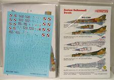 MiG-23 MF Teil 1, Decal,Abziehbilderbogen, 1/72,Techmod , Neu