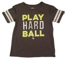 "OSHKOSH Boy's ""Play Hard Ball "" Short Sleeve Top T-Shirt Gray Size 8 Kids"