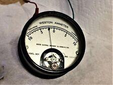 Vintage 1920 Weston Electrical Dc Ammeter Gauge 10 0 10 Glass Face 301 Steampunk