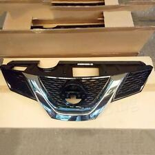 1x Front Grill Grille With Camera Spot Trim For Nissan X-Trail Rogue 2014-2016