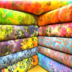 Bali Batiks Batik Printed Design 100% Cotton Fabric Crafting Quilting Patchwork