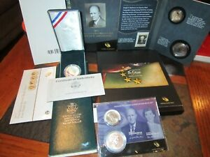 DWIGHT EISENHOWER COIN & CHRONICLE SET AND MORE