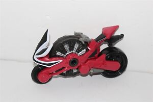 """Power Rangers Samurai Red Disc Cycle Motorcycle 2010 Bandai 7 1/2"""""""