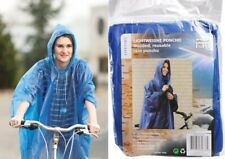 Adult Raincoat Waterproof Plastic Disposable Rain Poncho Hood Ladies Mens