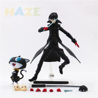 "Figma 363 Persona 5 Shujinkou & Morgana Joker Action Figure Toy 6"" Model Present"