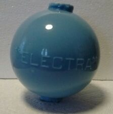 Electra Lightning Rod Ball Blue Milk Glass Roof Home Cabin Den Yard Barn Decor
