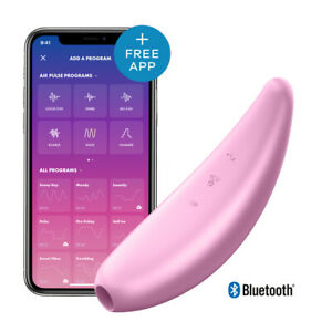 Vibratore Succhia Clitoride Curvy 3+ Satisfyer Sex Toy Sesso Femminile con APP
