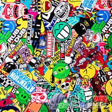 Stickerbomb 3D Luftkanal wrapping Auto-Folie 50x150cm -Marken & Logos - BOMB