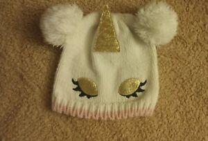 Girl's Unicorn Knitted Beanie Winter Hat