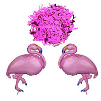 2x Tropical Flamingo Foil Balloon+ Table Confetti Kids Birthday Party Decor