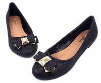 BELINDA New Fashion Blink Slip On Casual Women Flats Beauty Bowknot Shoes BLACK