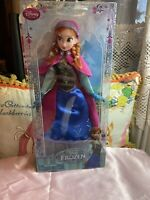 "Authentic Disney Store Frozen Anna 12"" Classic Doll Original 2013-14 MINT! NEW"