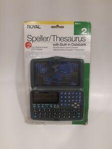 Royal Electronic Speller Thesaurus - ST74 - Built in Databank - Original Package