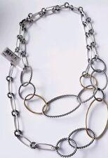 David Yurman Sterling Silver & 18k Gold Necklace - Silver/gold