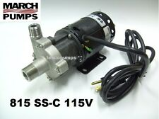 March Beer Pump  815 SS-C  115v  with base 6' cord & plug  home brewing   HF 809
