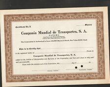 COMPANIA MUNDIAL DE TRANSPORTES (PANAMA) (A)