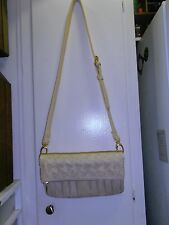 NEW* URBAN EXPRESSIONS, Connie; Beige Faux Leather Crossbody / Shoulder Bag $105