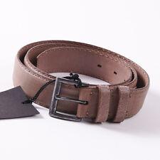 NWT $695 KITON NAPOLI Textured Beige Calf Leather Belt 36 W (Eu 90cm)