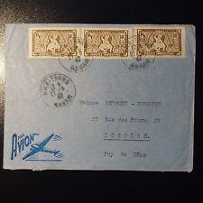 INDOCHINE LETTRE COVER CAD NHA TRANG ANNAM 1947 POUR ISSOIRE PAR AVION