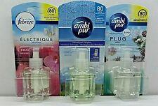 3 X Ambi Pur Eléctrico Enchufe en Ambientador Recargas 20ML elegir un aroma