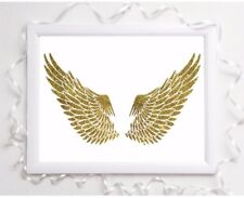 angel wings glossy Print poster a4  picture unframed