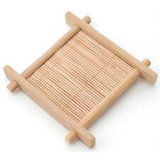 Chinese Tea Set Natural 1pcs 100% Bamboo Wood Trays Tea Trays 7cm*7cm Creative