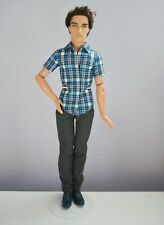 > Barbie Fashionistas Ryan Ken Doll Brunette Rooted Hair Articulated 2011 2012