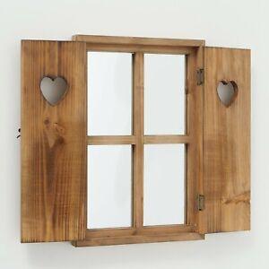 Wandspiegel Seppl Braun Fensterladen Fenster Landhaus Spiegel Fensterläden Neu